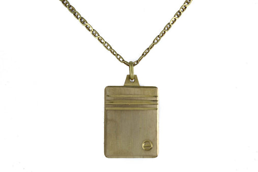 "DESIGN MARINER LINK CHAIN 18 KT YELLOW GOLD 24"" LENGTH WITH 18 KT GOLD PENDANT"
