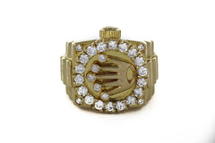 27 DIAMONDS ROUND RING 14K YELLOW GOLD SIZE 6