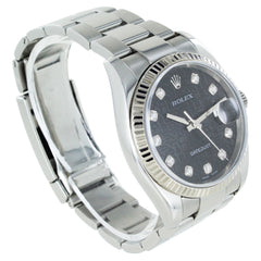 GENTS ROLEX DATEJUST 36MM JUBILEE BLACK DIAL SET WITH DIAMONDS MNJ000128
