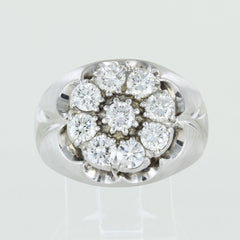 14KT GOLD DIAMOND CLUSTER RING SIZE 11.5