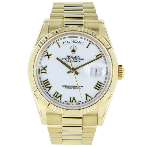 ROLEX PRESIDENT DAY-DATE 118238 36M WHITE DIAL