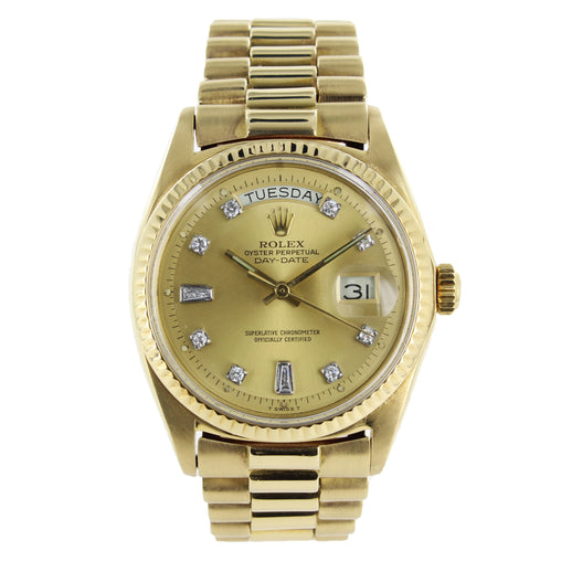 ROLEX PRESIDENTIAL 18KT DIAMOND DIAL GOLD WATCH