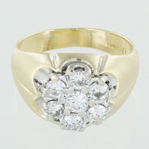 GENTS 14KT GOLD DIAMOND RING SIZE 9