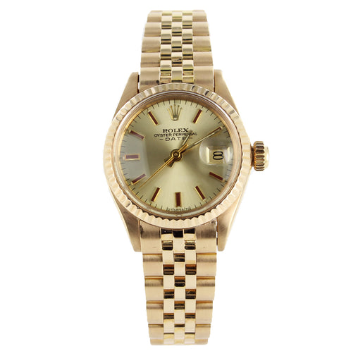 ROLEX DATE 6917 18KT GOLD WATCH