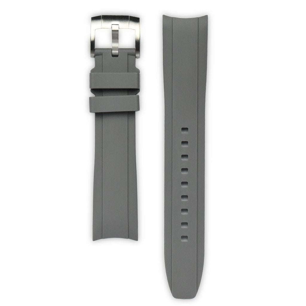Everest Grey Rubber Strap For Rolex Watch EH5