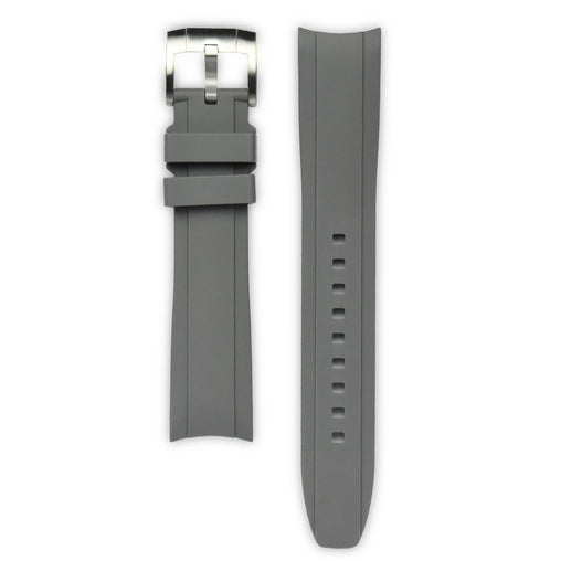 Everest Grey Rubber Strap For Rolex Watch