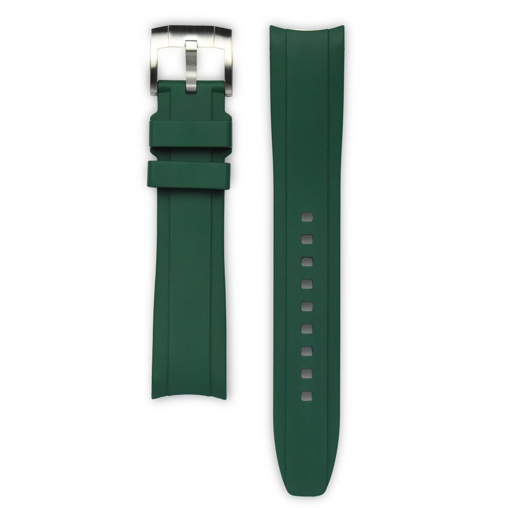 Everest Green Rubber Strap For Rolex Watch