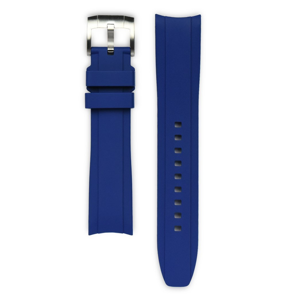 Everest Blue Rubber Strap For Rolex Watch