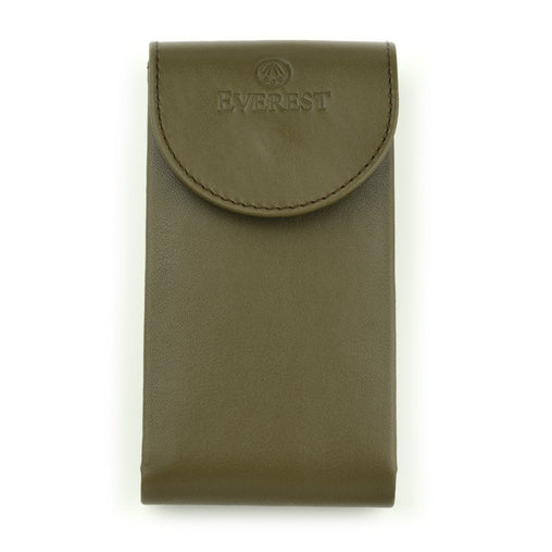 EVEREST MILITARY GREEN LEATHER WATCH POUCH