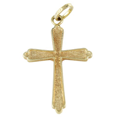 18KT YELLOW GOLD CRUCIFIX