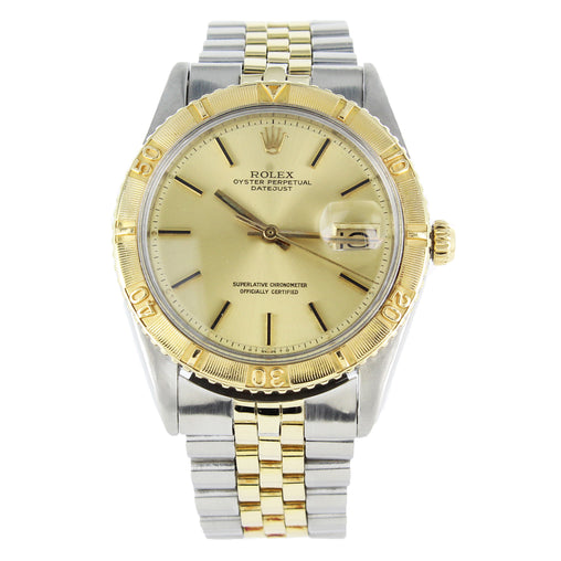 ROLEX THUNDERBIRD OYSTER PERPETUAL DATEJUST 1625 STAINLESS STELL & GOLD