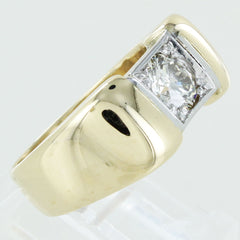 MENS 14KT DIAMOND SOLITAIRE RING SIZE 6.5
