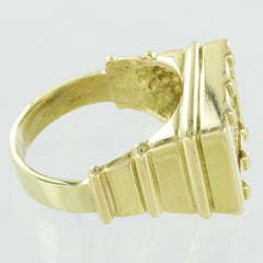 MENS 18KT GOLD CLUSTER DIAMOND RING SIZE 10.5