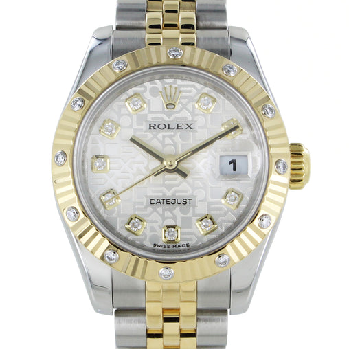 LADIES ROLEX DATEJUST 179313 WITH DIAMOND DIAL
