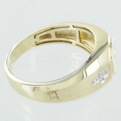 GENTS 10KT GOLD DIAMOND CROSS RING SIZE 10