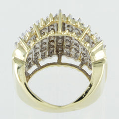 LADIES 10KT TWO TONE DIAMOND RING SIZE 5