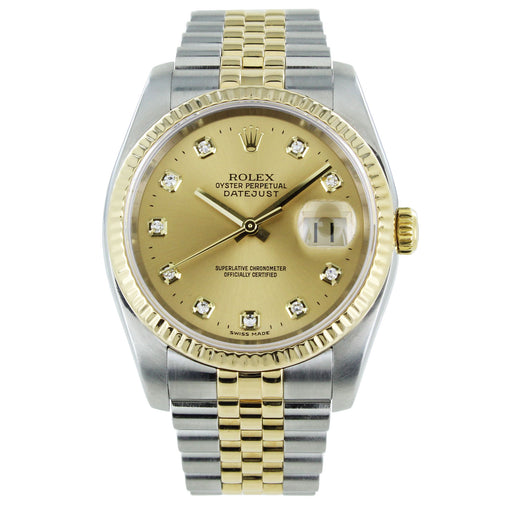 ROLEX OYSTER PERPETUAL DATEJUST 116233 CHAMPAGNE DIAL