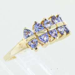 LADIES 10KT GOLD IOLITE STONE RING SIZE 9