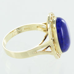LADIES 14KT GOLD BLUE LAPIS RING SIZE 9