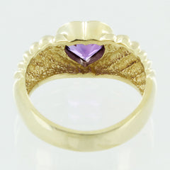 LADIES 14KT GOLD AMETHYST RING SIZE 7.5