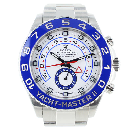 ROLEX YACHT-MASTER ll 44MM BLUE BEZEL WITH BOX & PAPERS