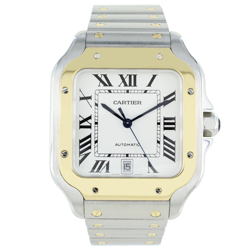 SANTOS DE CARTIER 18KT YELLOW GOLD & STEEL WATCH