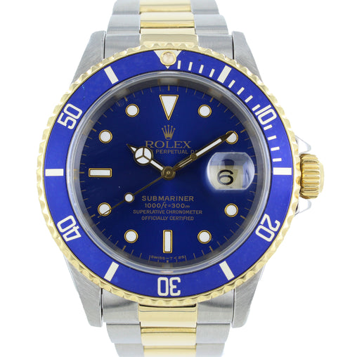 ROLEX OYSTER PERPETUAL SUBMARINER DATE STAINLESS STEEL & GOLD 16613