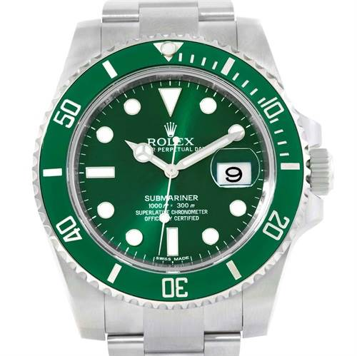 ROLEX SUBMARINER HULK GREEN DIAL BEZEL MENS WATCH WITH ORIGINAL BOX & PAPERS