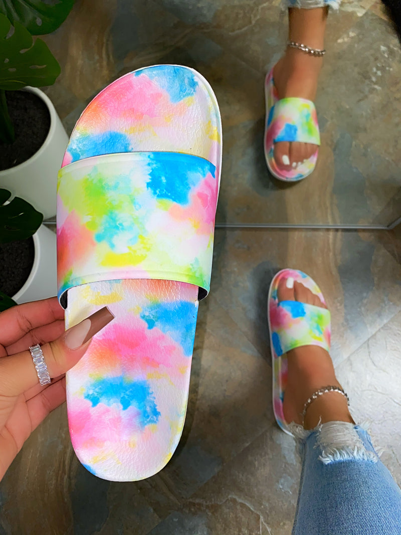 Elliot Slides - Multi Tie Dye