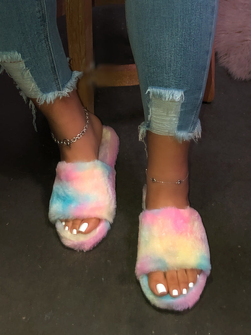 Stacie Slippers - Cotton Candy