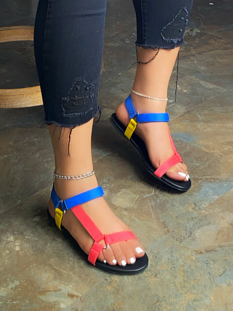 Bexley Velcro Sandals - Multi Colors