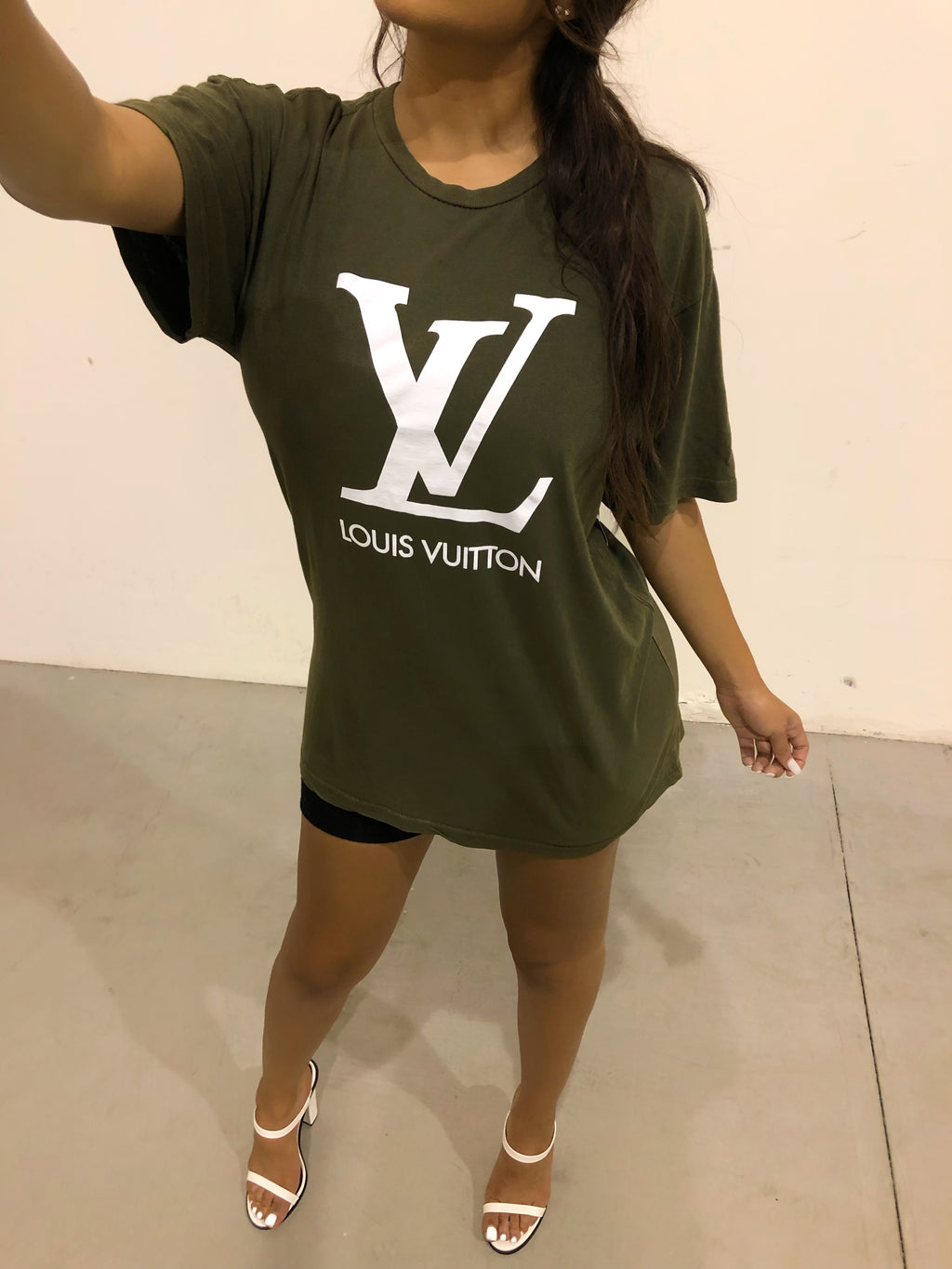 Louie Vuitton Vintage Unisex T-Shirt - Olive Green