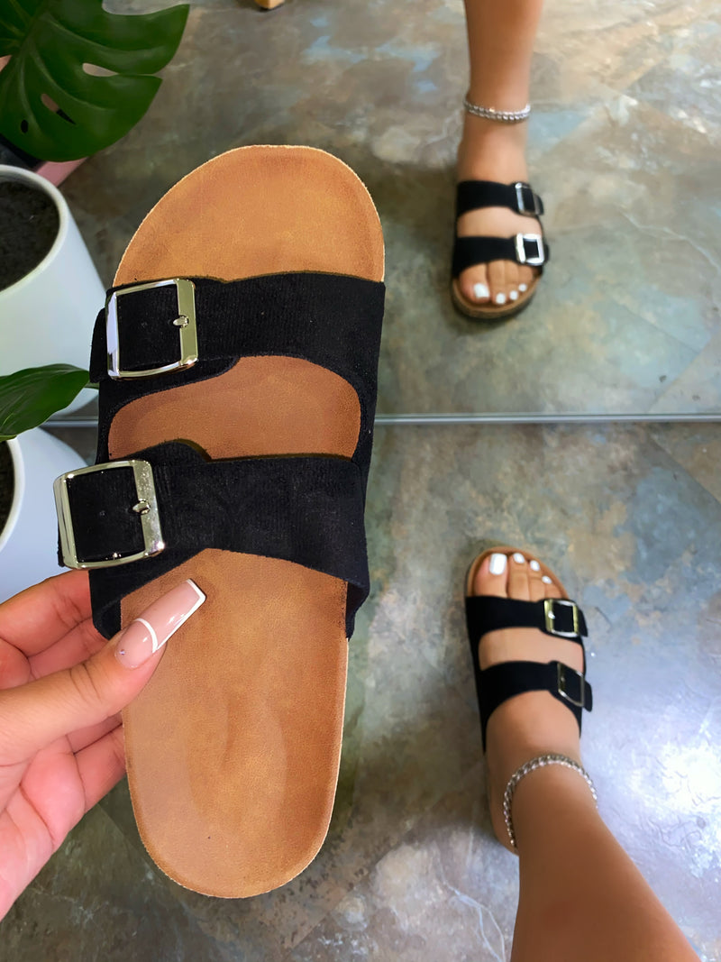 Malina Sandals - Black Suede