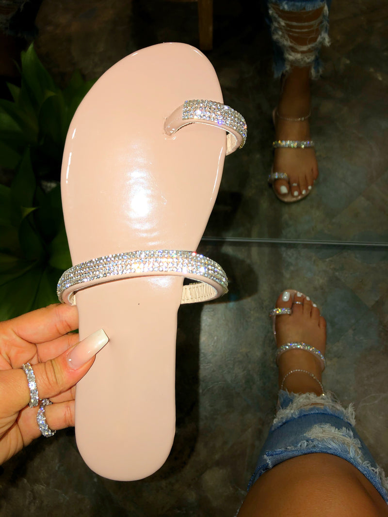 Lily Toe Ring Sandals - Nude