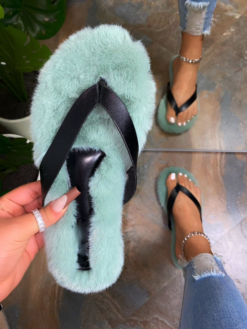 Sherlyn Thong Slippers- Sage Green