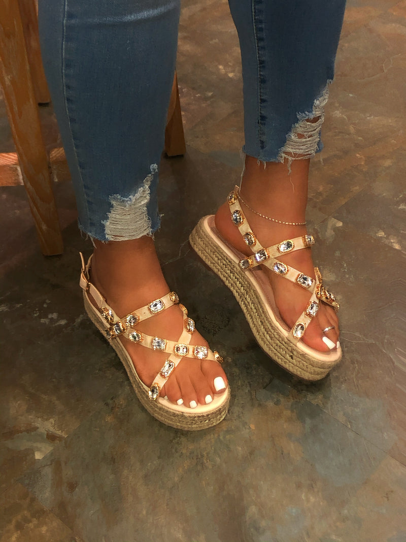 Major Platform Espadrille Sandals - Nude
