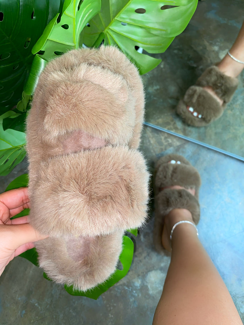 Aurora Double Slippers - Nude