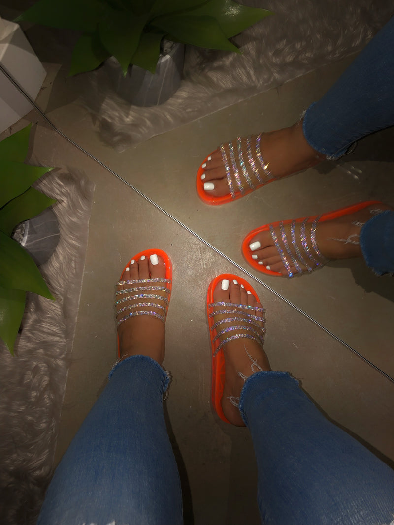 Jayleen Slide - Neon Orange