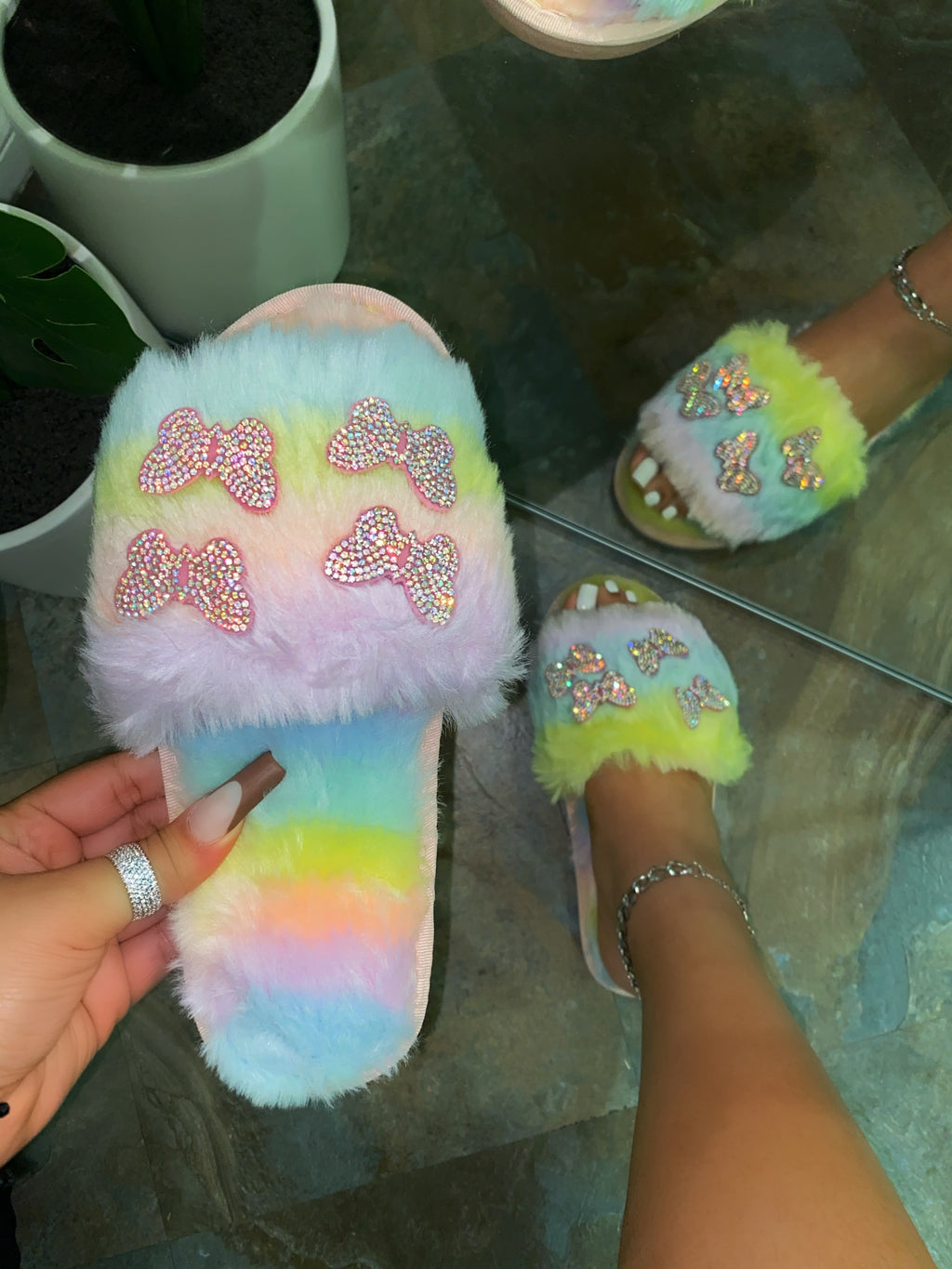 Bella Butterfly Slipper - Tie Dye