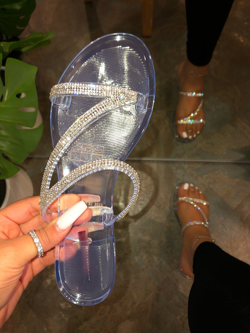 Alesa Jelly Sandals - Clear