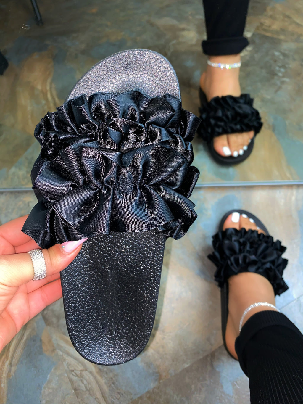 Jolene Sandals- Black