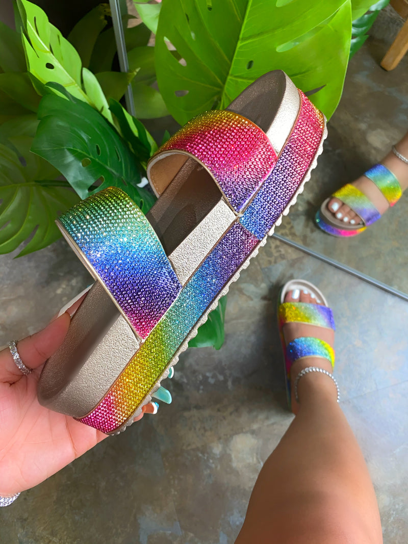 Celyn Platform Sandals - Rainbow