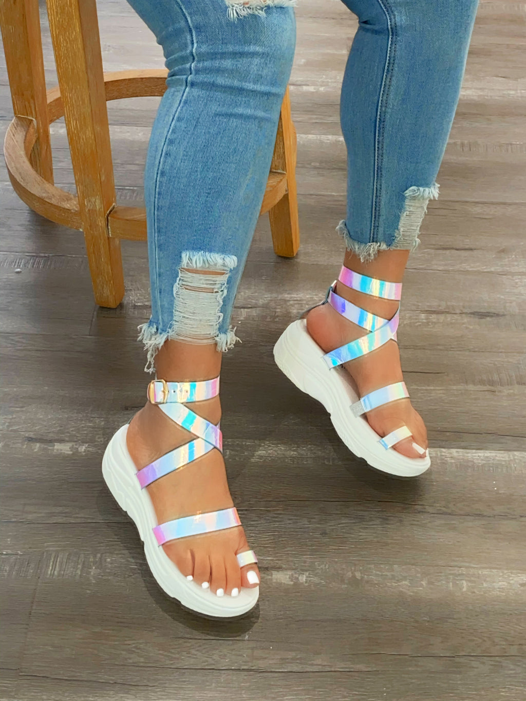 Susu Sneaker Sandals - Hologram