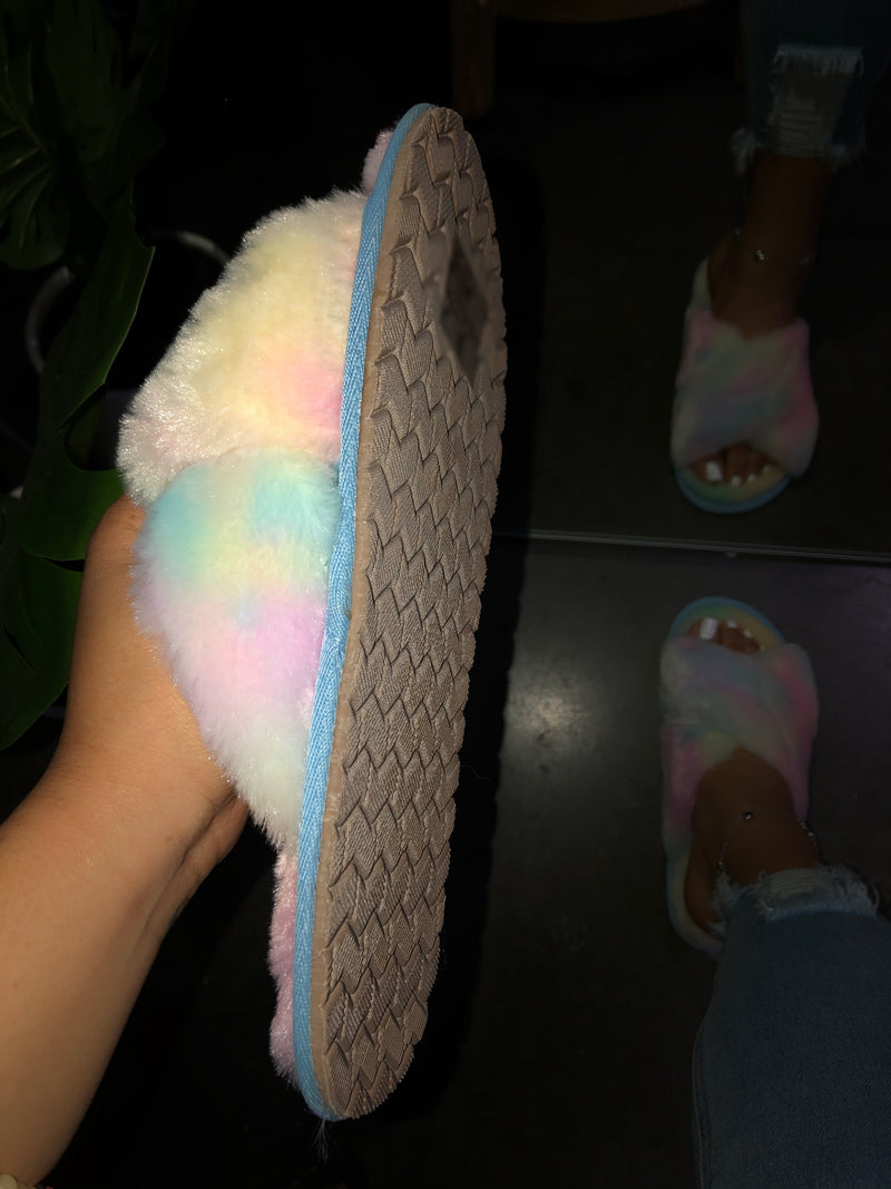 Jesse Flat Slippers / Sandals - Cotton Candy Multi
