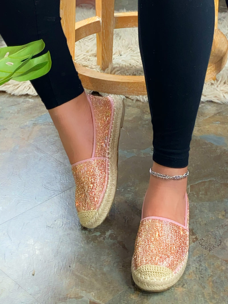 Lorie Espadrille Slip On - Rose Gold