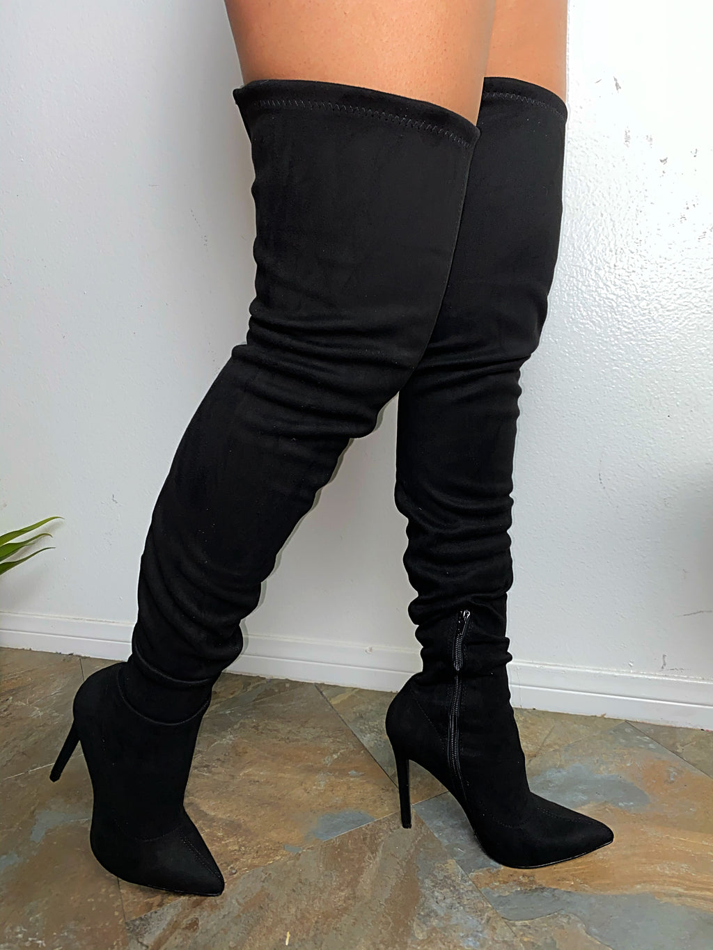Robin Thigh High Boots - Black