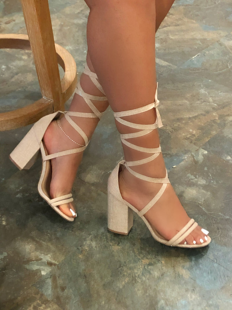 Dearly Chunky Heels - Natural