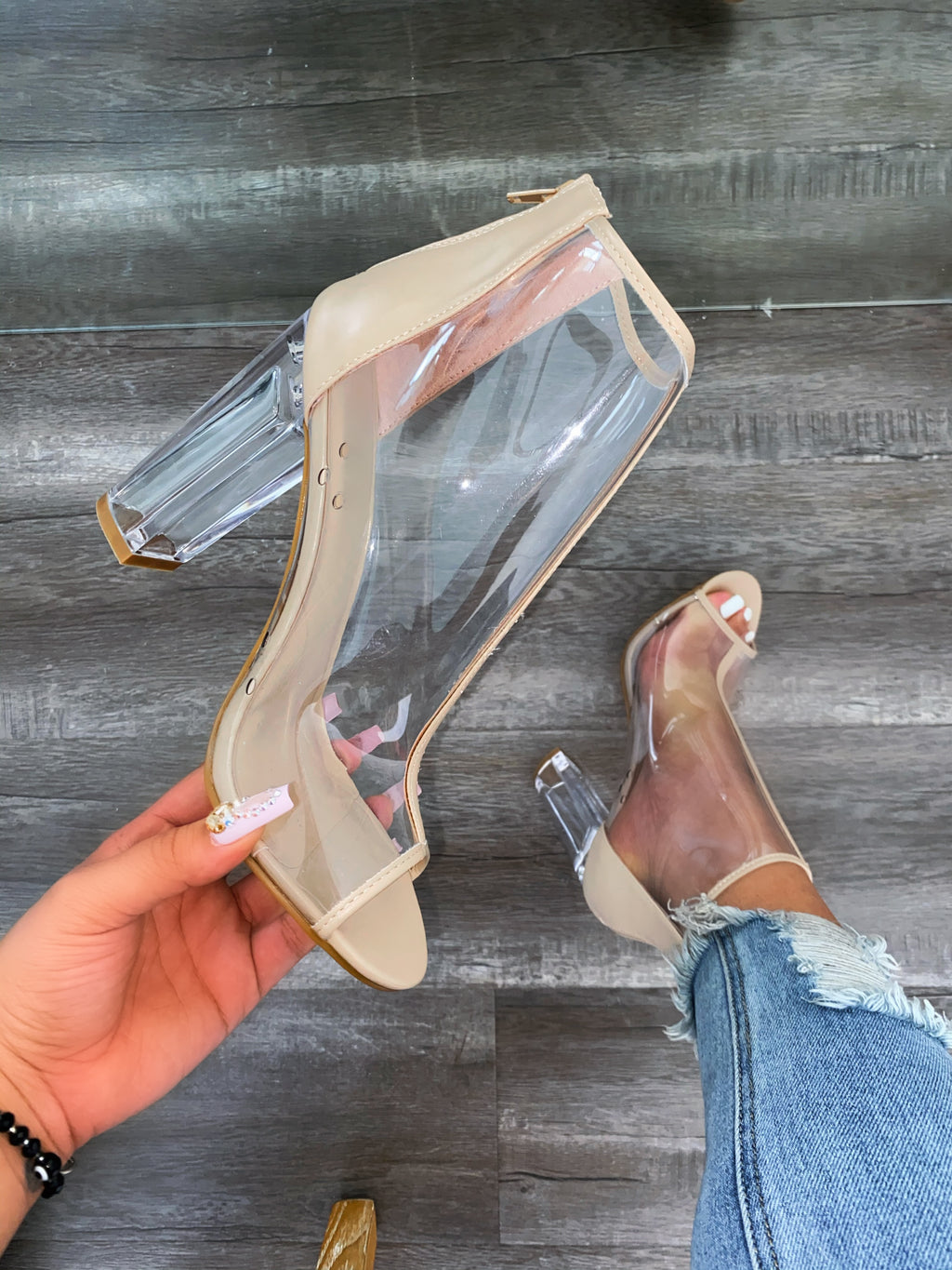 Paris Booties-Clear
