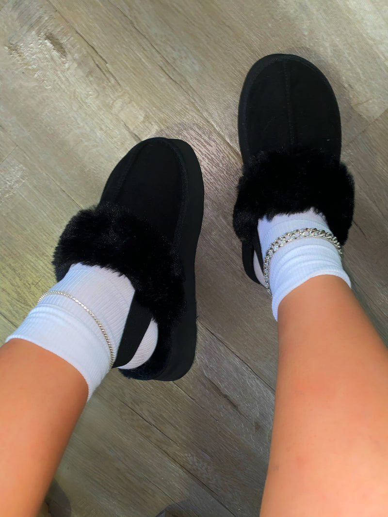 Lorde Platform Slippers - Black