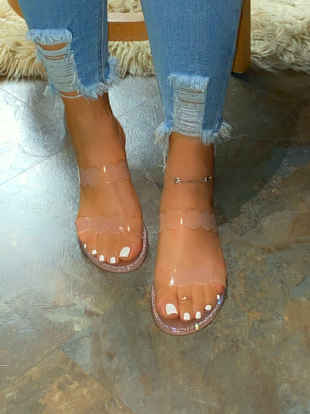 Aireal Jelly Sandals -Blush (FS)